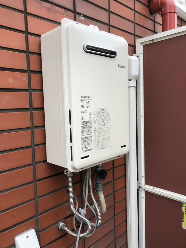 東大阪市で壁掛け給湯器の交換
