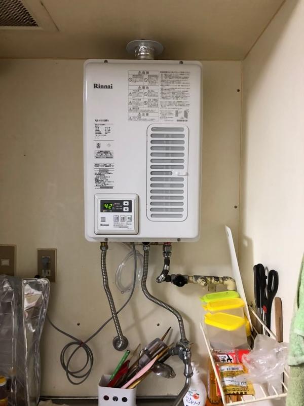 羽曳野市で上方排気給湯器の交換